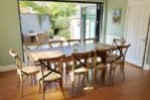 Open plan dining through to private garden