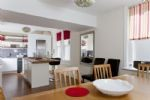 Open plan kitchen and dining for better socialising